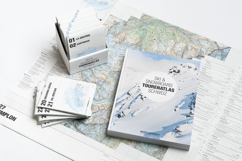 30 herausragende Tourengebiete umfassend beschrieben in einem Komplettpaket bestehend aus Buch und Karten
