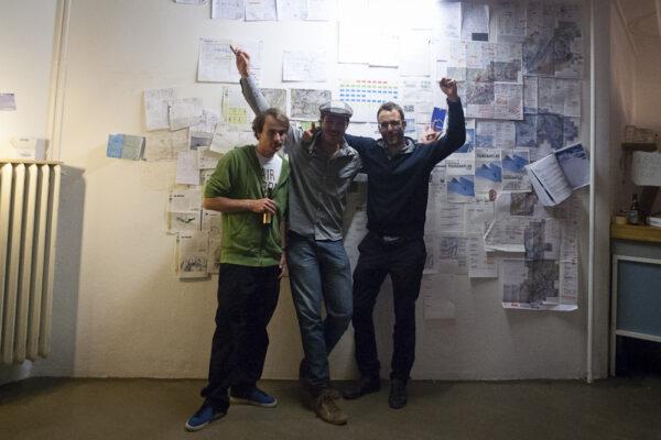 …und jetzt sind wir wieder einmal glücklich am Ziel angelangt (Markus, Nicolas und Lukas)