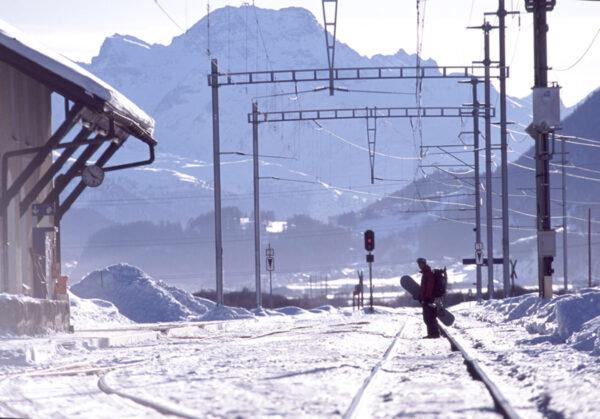 Lifte waren unwichtig, wir wollten nur noch rauf auf die wilde Berge (Engadin, 2005)…