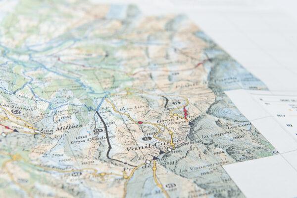 Und zeichneten die Routen ein auf Karten…